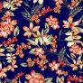 BRUSHED DTY W/TROPICAL FLOWER DESIGN