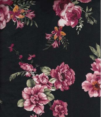 DTY BRUSH W/ROMANTIC-ROSE FLOWER DESIGN