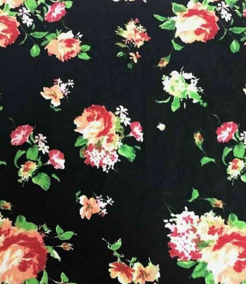 DTY DOUBLE SIDED BRUSHED W/ ROMANTIC FLORAL DESIGN