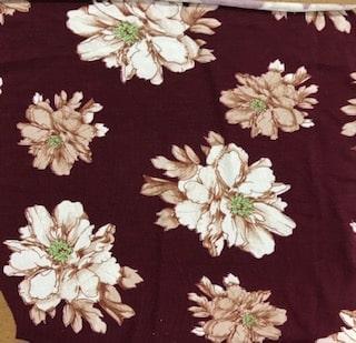 Rayon Spandex Jersey Fabric Floral Print